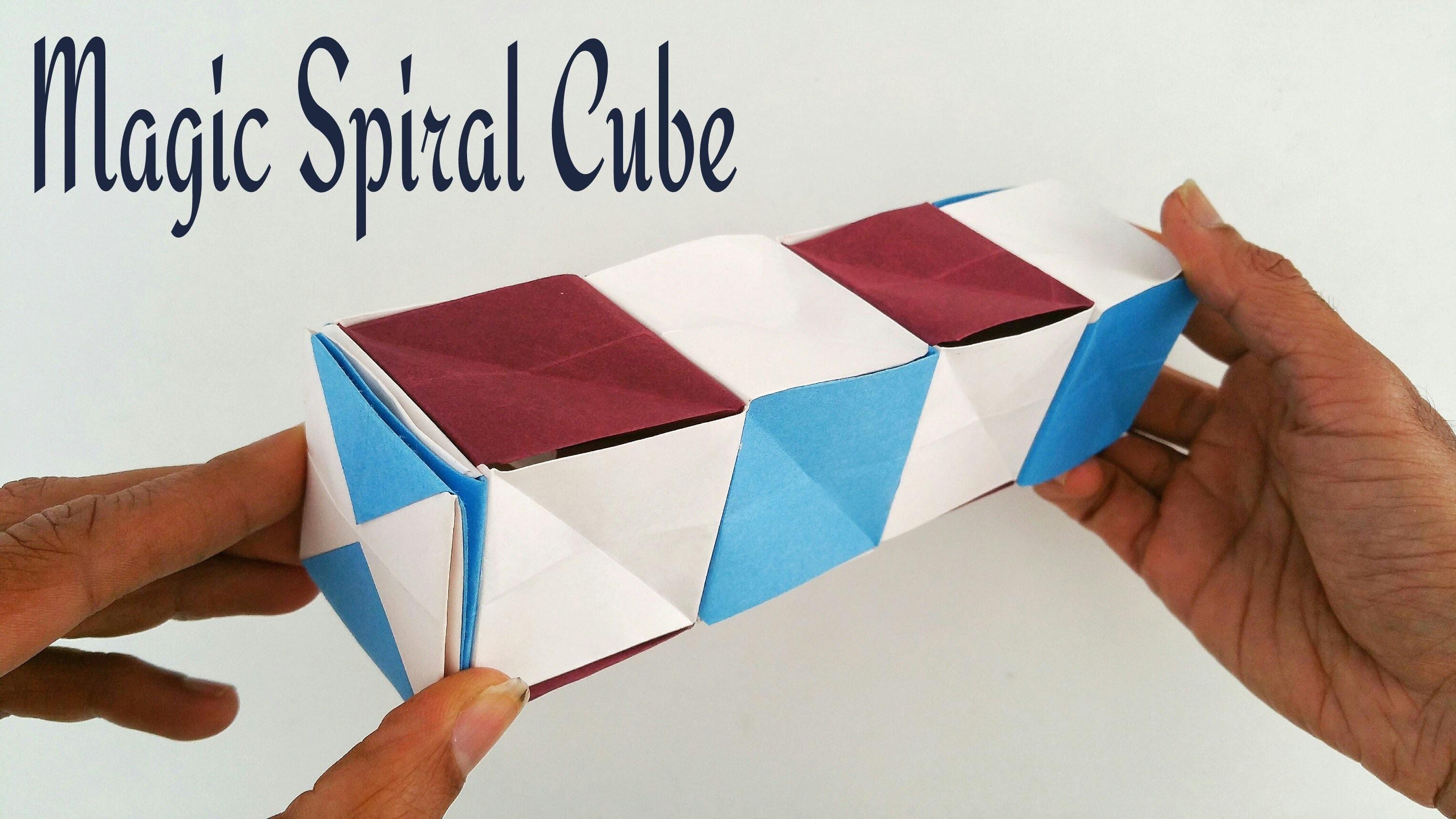 "How to make a paper ""Magic spiral cube "" - Modular Origami Tutorial"
