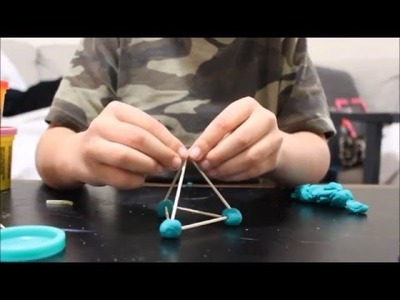 How to make a Tetrahedron with Playdoh and Toothpicks
