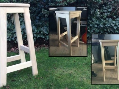 How to Make a Wooden Bar Stool