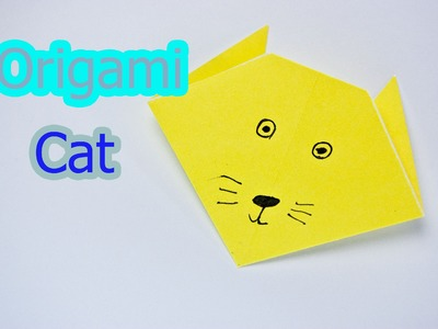 How to make an origami cat face