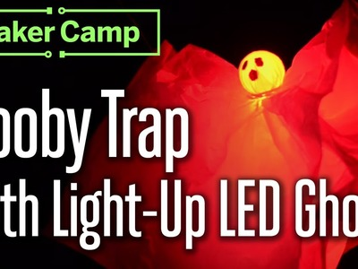 How to Make: Booby Trap with Light-Up LED Ghost + Pressure Plate Switch