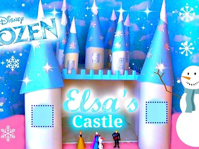 How to Make Elsa FROZEN Castle EASY + UPCYCLE Pepsi Packaging!