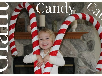 How to Make Giant Candy Cane Decorations