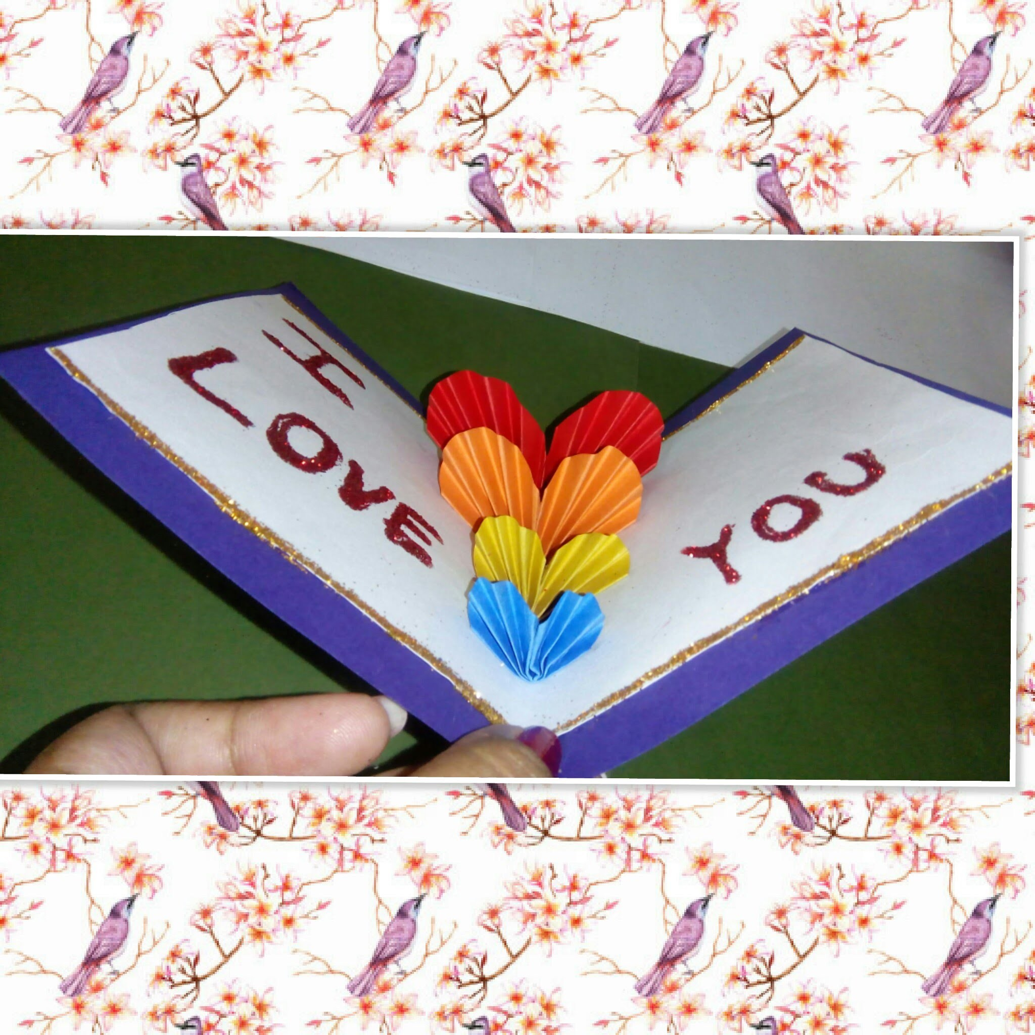 How to make  love pop up greeting card. love pop up greeting  card