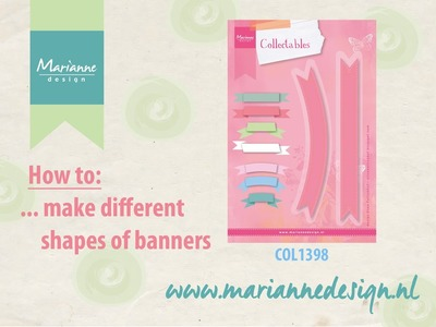 How to make paper banners with the COL1398