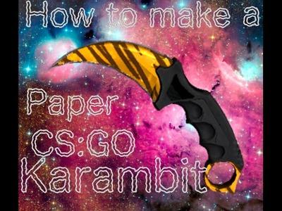 How To Make Paper CS:GO Karambit