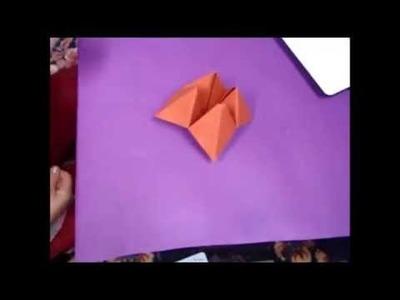 How to make paper toy origami - Papirna igračka žabica