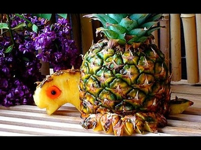 How to Make Pineapple Decoration | Pineapple Art | Fruit Carving Pineapple Garnishes