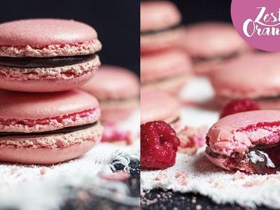 How To Make Raspberry & Chocolate Macarons - Recipe