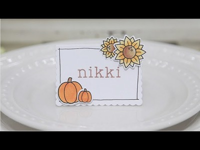 How to make Thanksgiving place cards