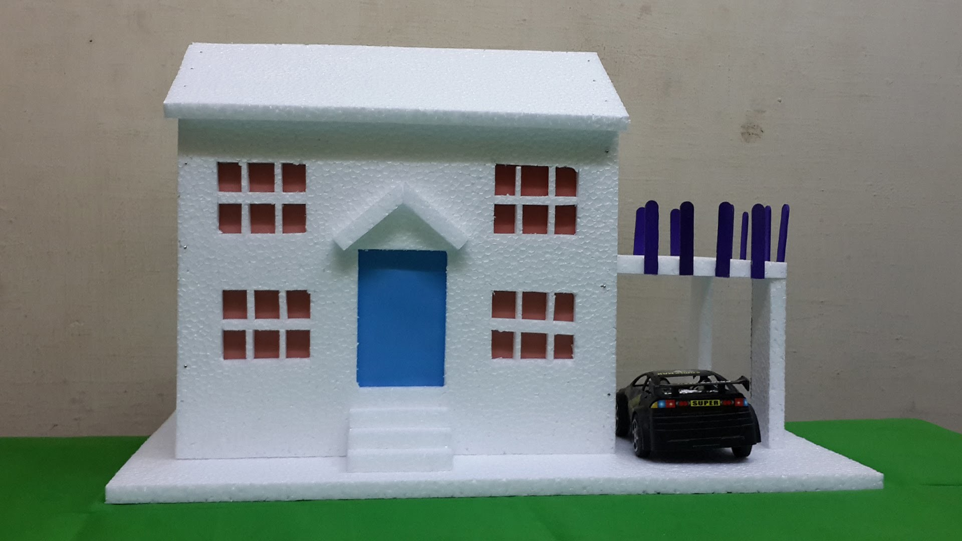 How To Make Thermocol Bungalow House Model School Project