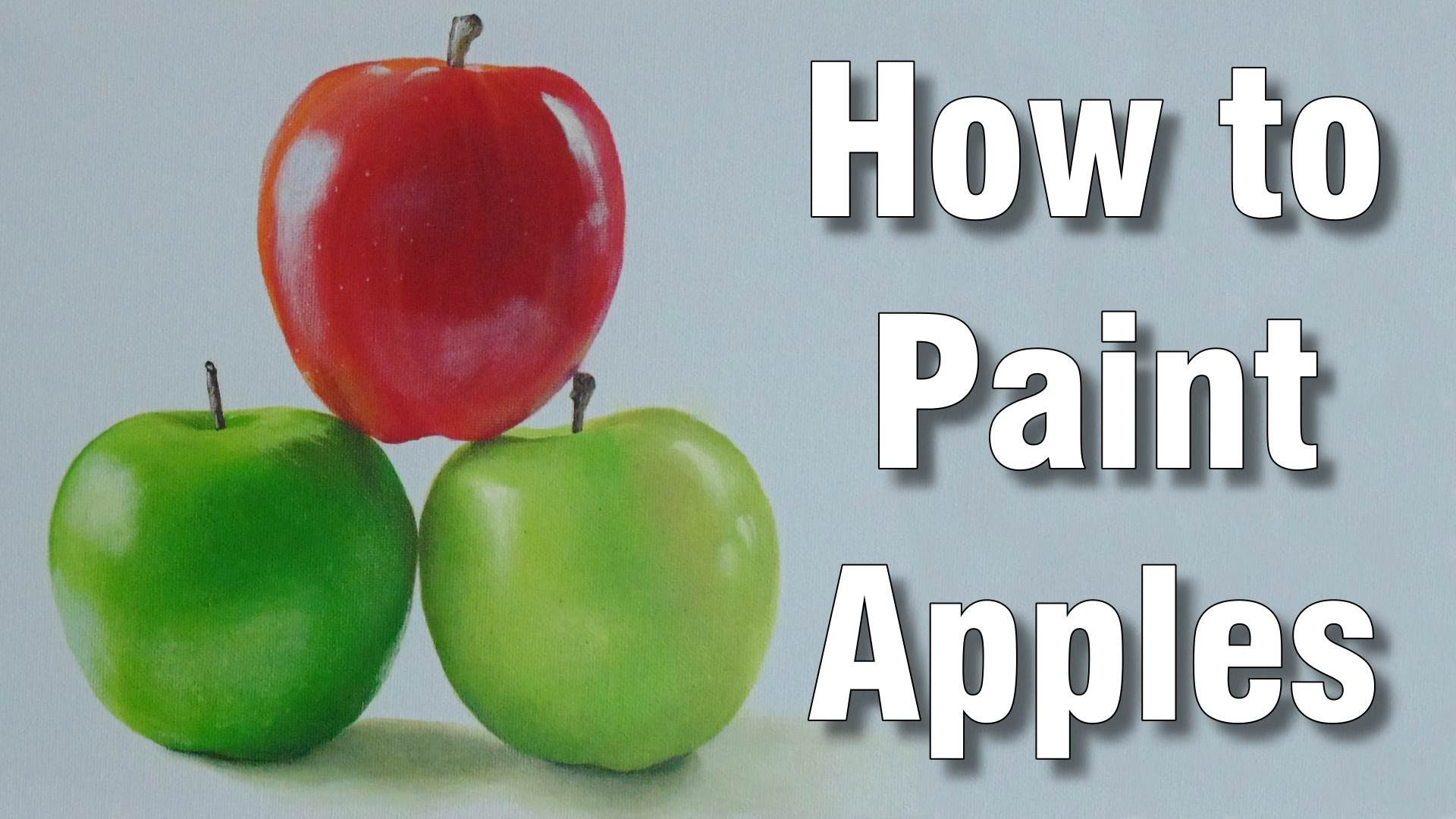 How to paint apples in acrylic time lapse painting tutorial