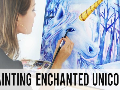 How To Paint Enchanted Unicorn | Speed Painting | ANN LE