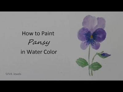 How to Paint Pansy in Watercolor