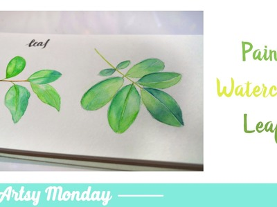 How To Paint Watercolor Leaf Branch
