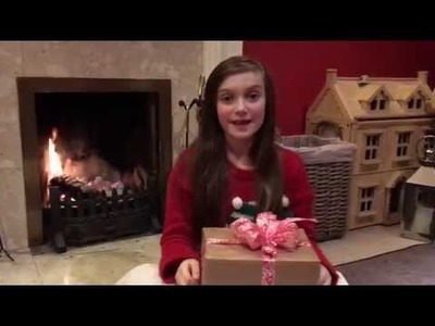 How to tie a Perfect Christmas Present Bow Tutorial by Skye