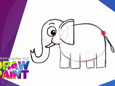 Learn how to draw and paint  Elephant