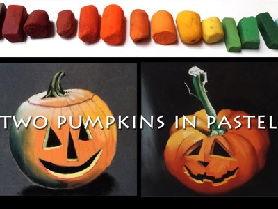 Learn how to paint a Halloween pumpkin in pastels with a limited palette