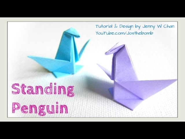 Origami Penguin - Paper Penguin - Paper Crafts for Kids & Classroom