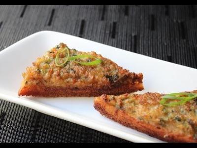Shrimp Toast - Crispy Fried Shrimp Appetizer Recipe - How to Make Shrimp Toasts