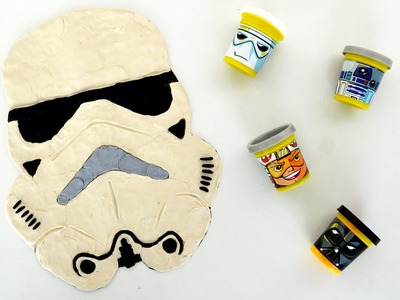Star Wars The Force Awakens: How to Draw a Stormtrooper Play Doh time-lapse by Supercool4kids