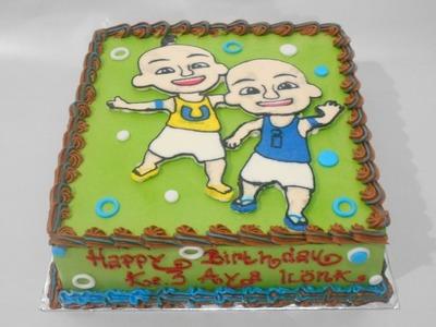 Upin Ipin Birthday Cake How to Make Easy