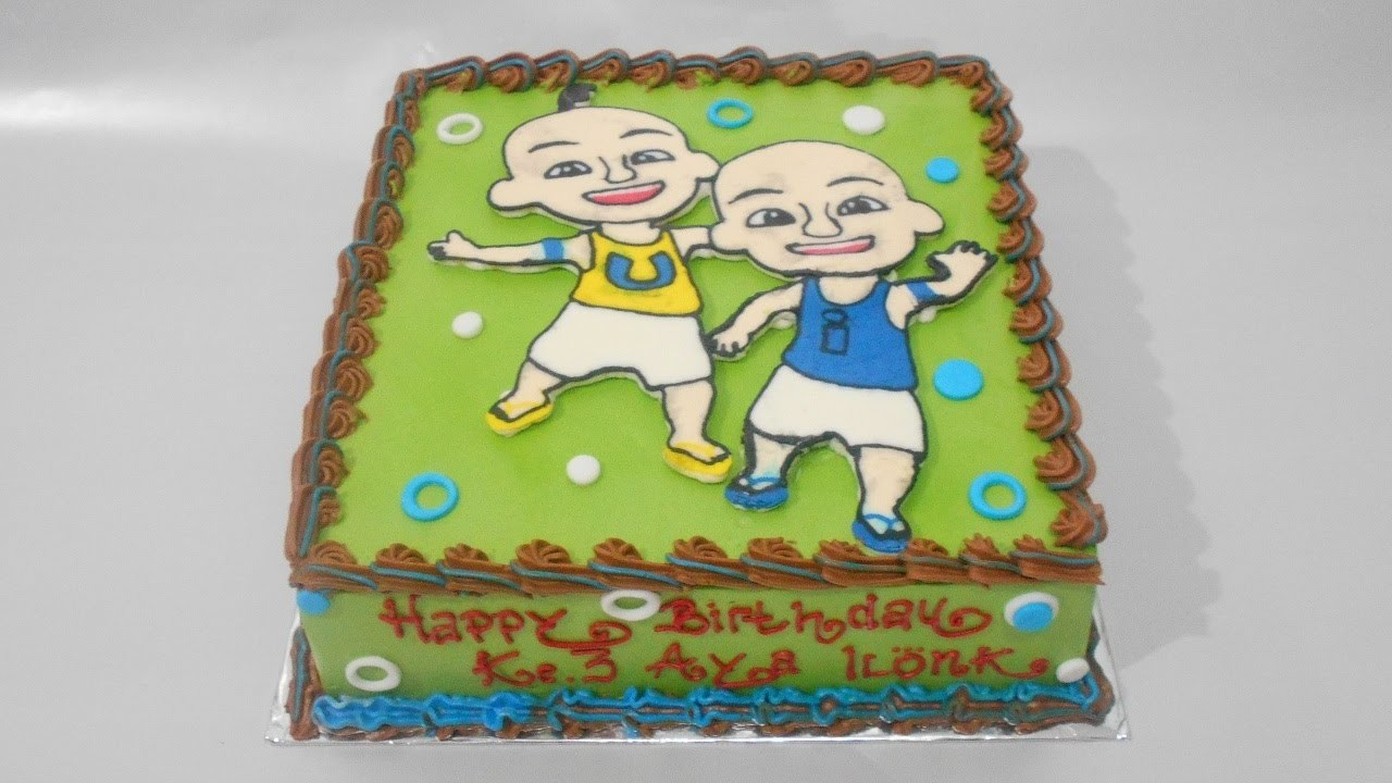 Upin Ipin Birthday Cake How to Make Easy