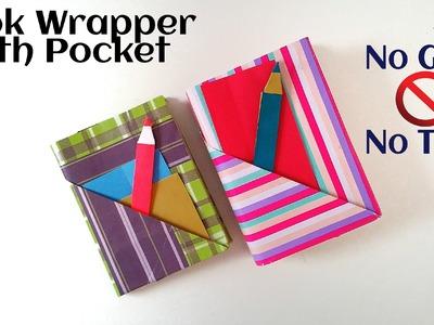 "Useful Origami - Paper ""Book wrap with Pocket & Bookmark"" - (No Glue, No Tape No Staple)"