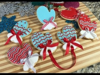Winter Mitten Cookies, Christmas Gloves(How To)