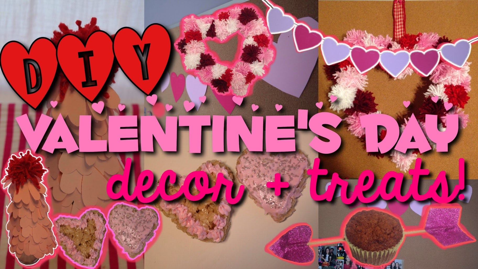 5 DIY Valentine's Day Decor + Treats! Easy & Cute!
