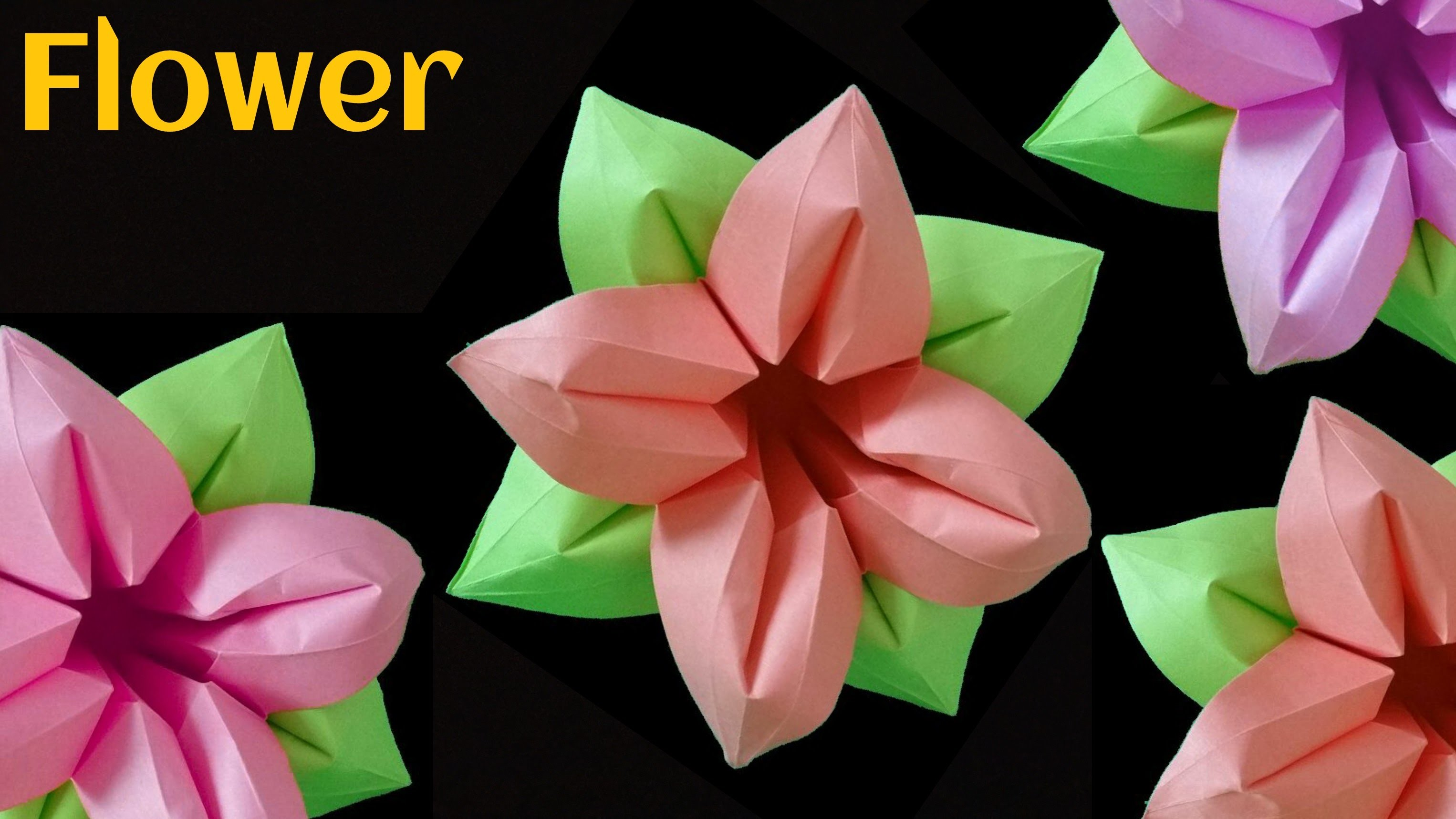 Images Of Origami Flower Youtube Rock Cafe