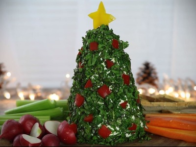 Christmas Recipes - How to Make a Christmas Tree Cheeseball