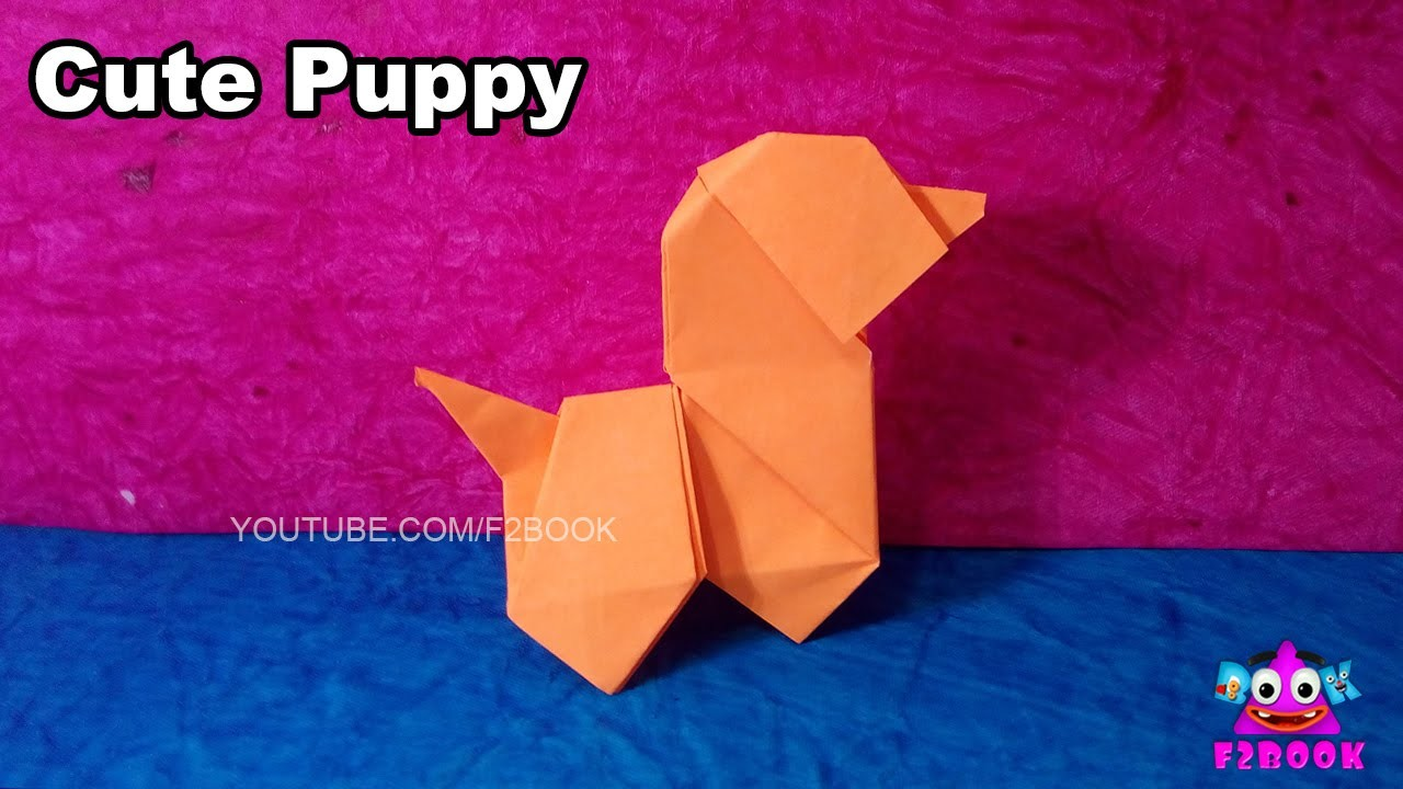 Cute Puppy Paper Dog Fold Kids Easy Makeing - Origami For kids