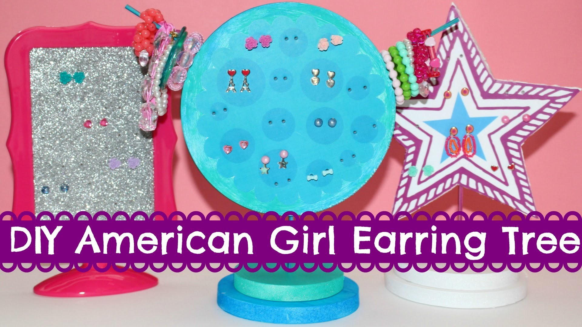 DIY American Girl Earring Tree Craft