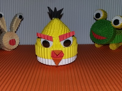 DIY angry bird from corrugated paper (simple and easy)