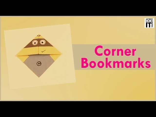 DIY - Corner Bookmark - Easy Origami Corner Bookmark - How to make - Paper Crafts