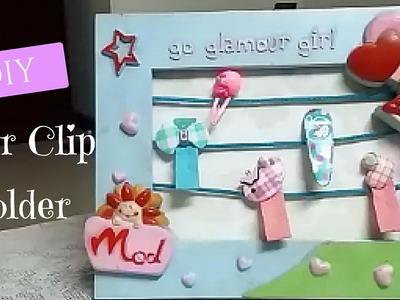 DIY crafts: Hair Clip Holder
