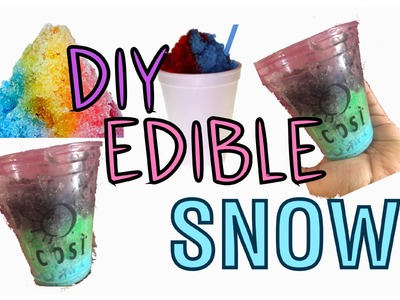 DIY EDIBLE SNOW | COLORFUL SNOW | COOL CRAFTS FOR KIDS! 2016