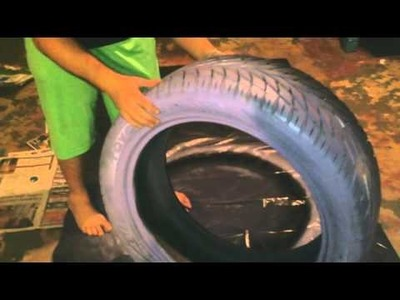 DIY how to make a purple Tire swing