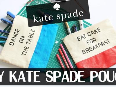 DIY Kate Spade Pouch | Without Sewing | Tempat Pensil. Makeup Tanpa Jahit
