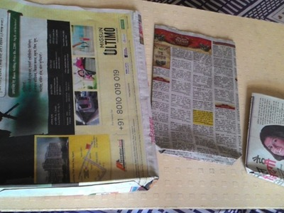 DIY Newspaper bag   say no to plastic bag