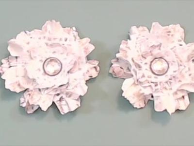 Embellishment {short} Tutorial Series - {Day 2} Shabby Paper Flowers