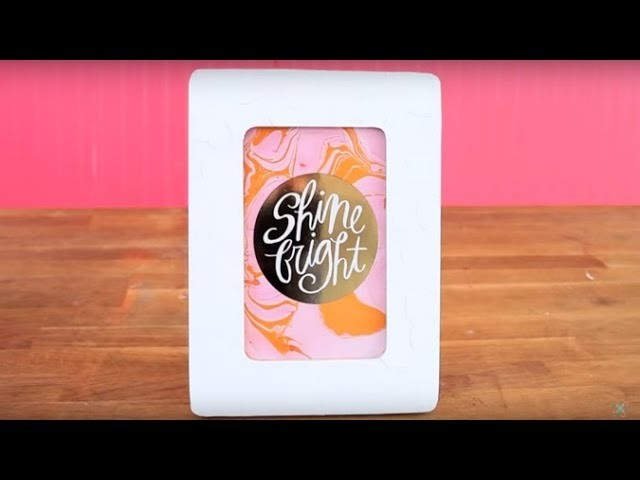 Faux Embossed Frame DIY with Ken Oliver Stick-It