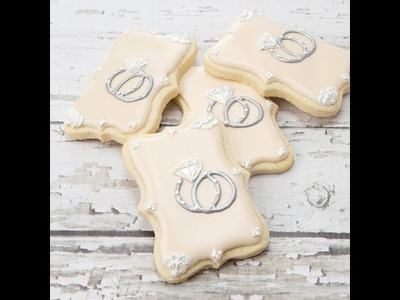 How to Decorate Elegant Engagement Cookies