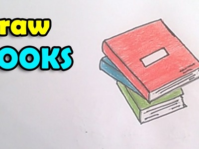 How to Draw a Book step by step for kids