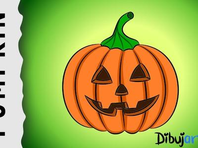 How to draw a Halloween Pumpkin — Wie zeichnet man einen Kürbis für Halloween