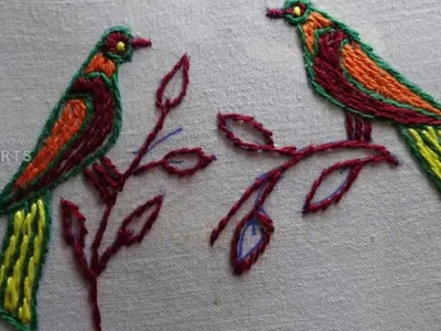 How to Draw a Parrot  in Handdraw Arts (Bird Design) By Amma Arts