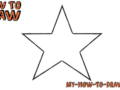 How to draw a Star *SUPER EASY* - Easy step-by-step drawing tutorial