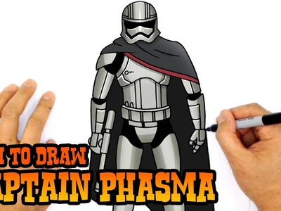 How to Draw Captain Phasma (Star Wars)- Kids Art Lesson