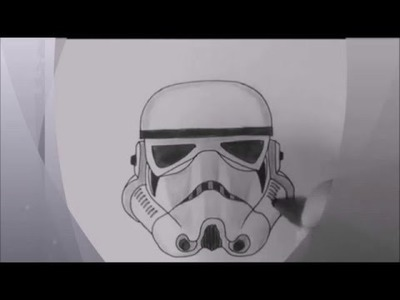 How to draw star wars character Stormtrooper - speed drawing